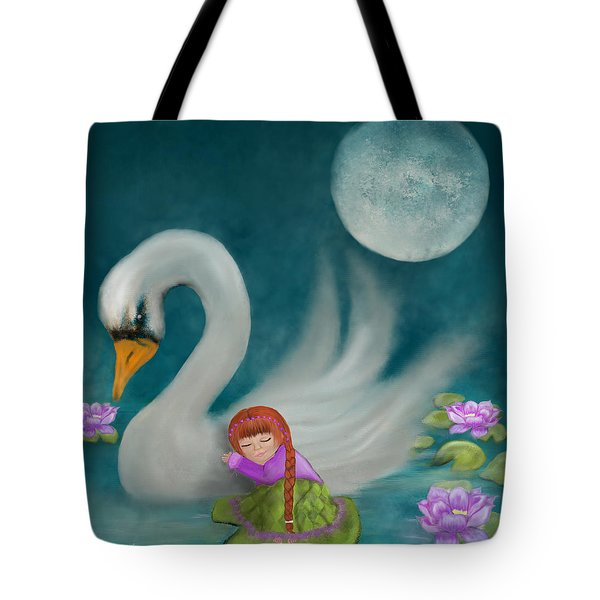 Swan Dreams By Sannel Larson Tote Bag