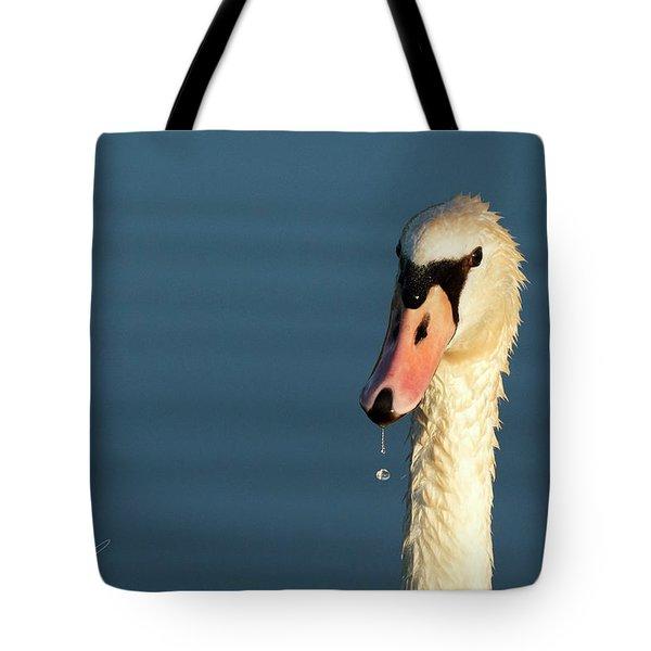 Swan Drop Tote Bag