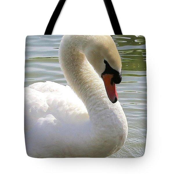Swan Elegance Tote Bag