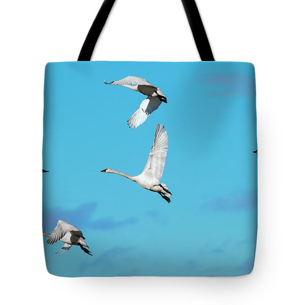 Swan Flight Tote Bag
