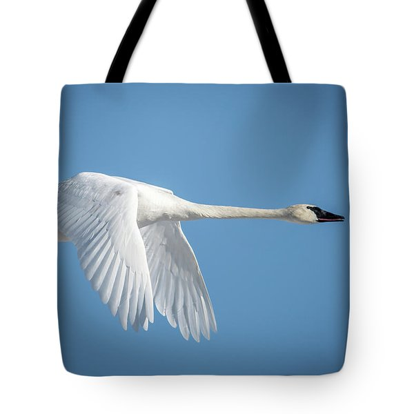 Swan Fly By Tote Bag
