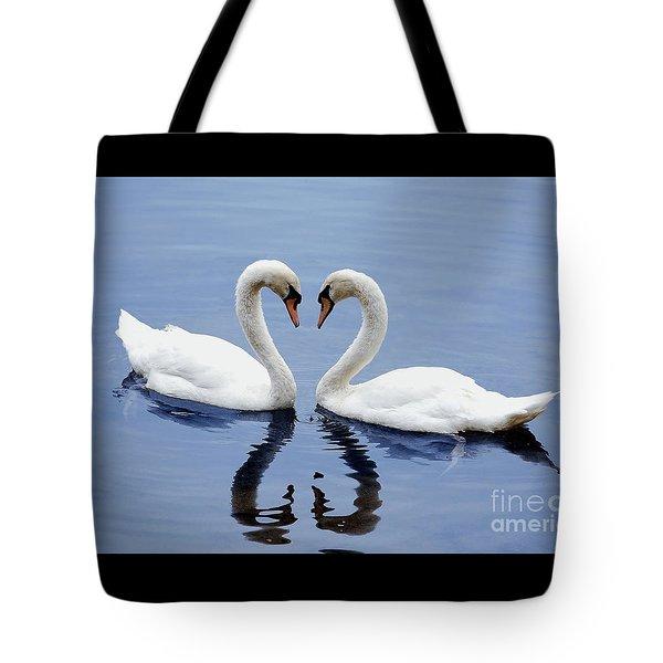 Swan Heart Tote Bag