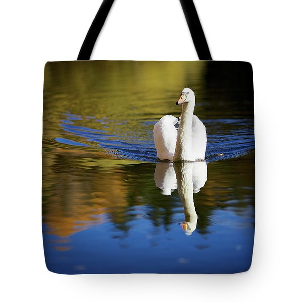 Swan In Color Tote Bag by Teemu Tretjakov