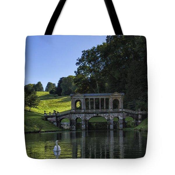 Swan In Prior Park Tote Bag