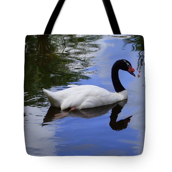 Swan In The Pond Tote Bag