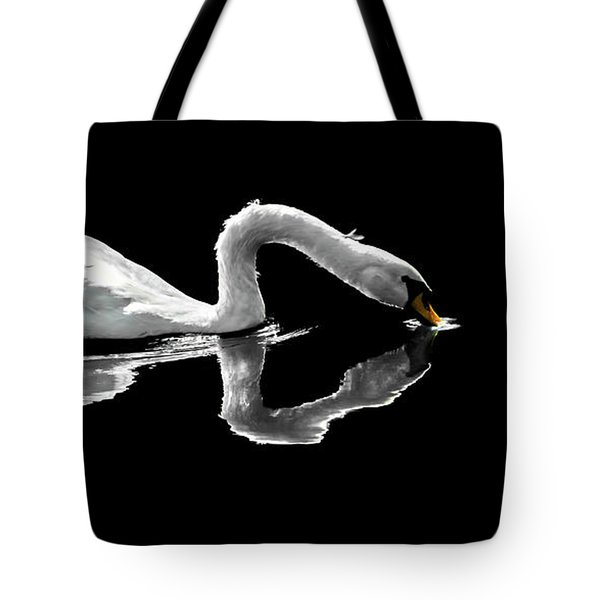 Swan Lake Nature Photo 2121a Tote Bag