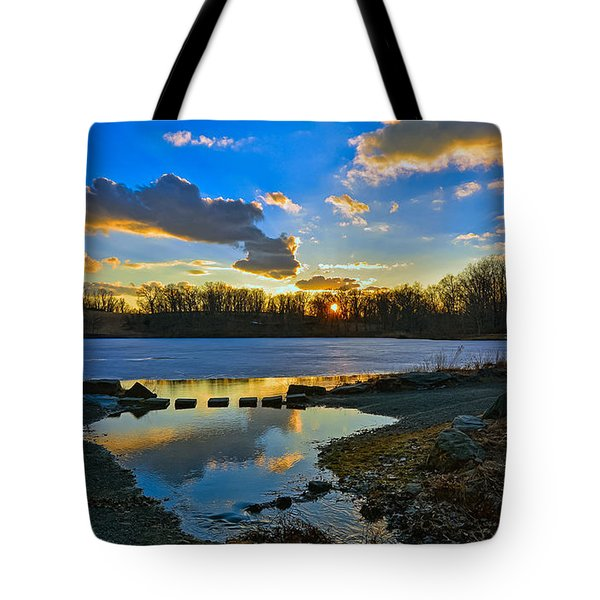 Swan Lake Sunset Tote Bag by Jeffrey Friedkin