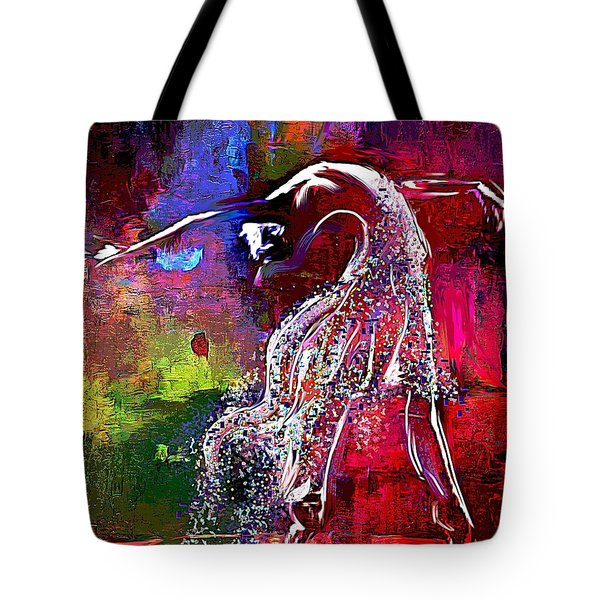 Swan Tote Bag by Lynda Payton