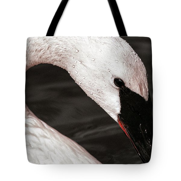 Tote Bag featuring the photograph Swan Neck by Jean Noren