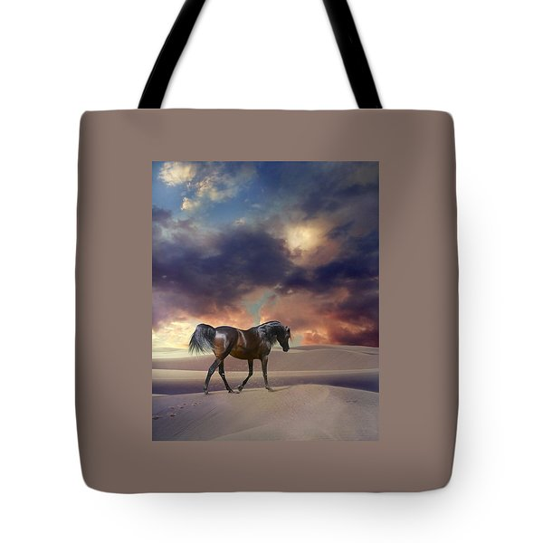 Swan Of Desert Tote Bag by Dorota Kudyba