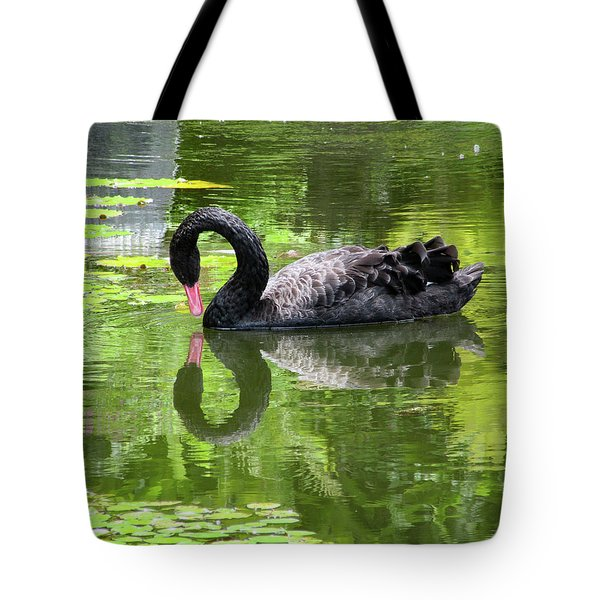 Swan Of Hearts Tote Bag