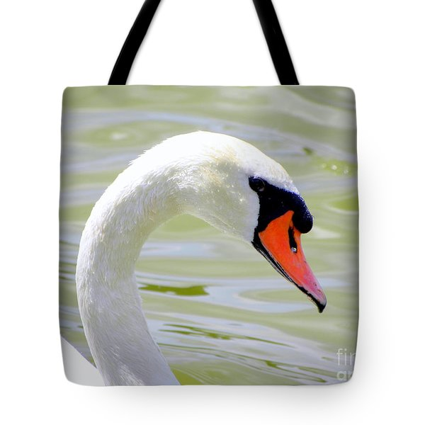 Tote Bag featuring the photograph Swan Profile by Terri Mills