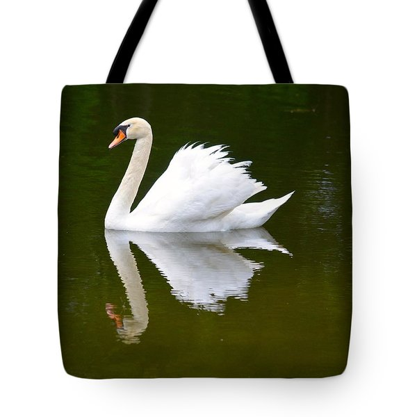 Swan Reflecting Tote Bag by Richard Bryce and Family