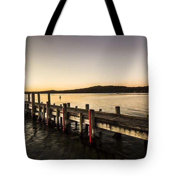 Swan River Jetty Tote Bag