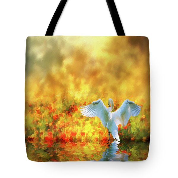 Swan Song At Sunset Thanks For The Good Day Lord Tote Bag