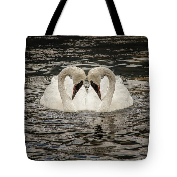 Tote Bag featuring the photograph Swan Times Two by Mary Hone