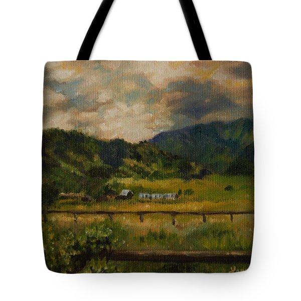 Swan Valley Hillside Tote Bag