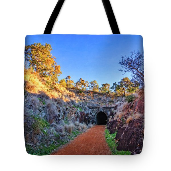 Tote Bag featuring the photograph Swan View Railway Tunnel by Dave Catley