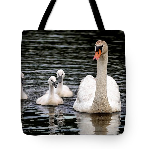 Tote Bag featuring the photograph Swan-voy by Brian Stevens