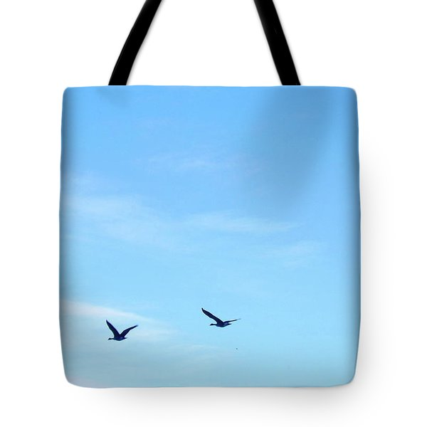 Swans Fly In Yellowstone Tote Bag