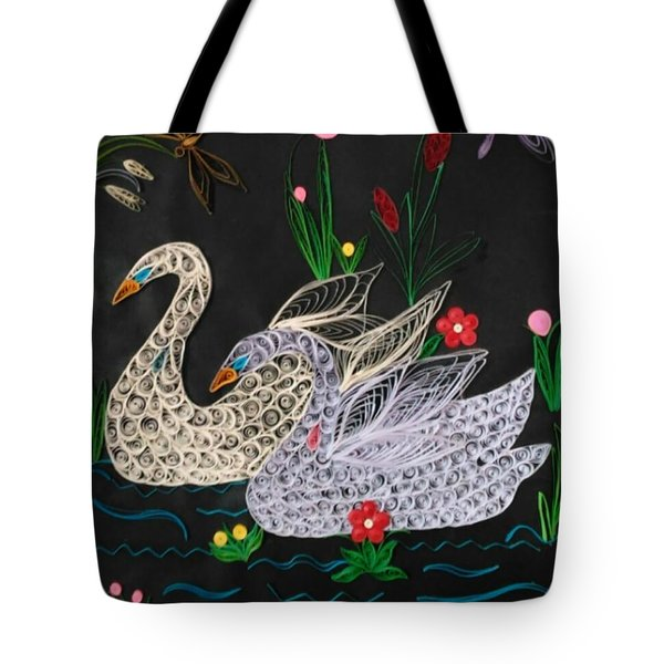 Swans In The Summer Tote Bag