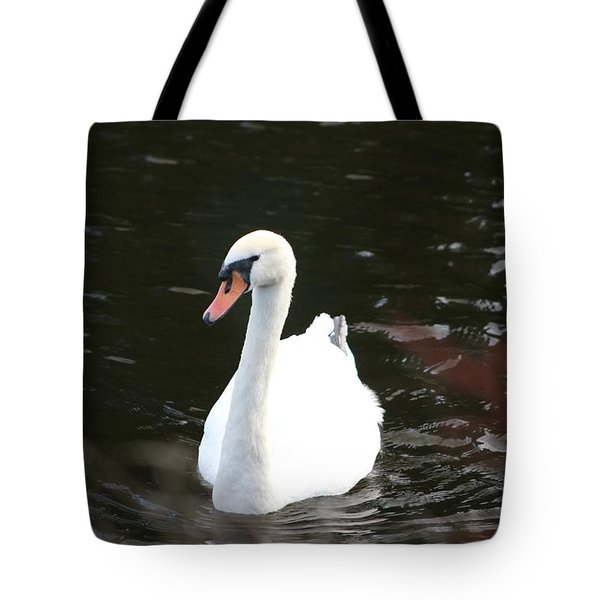 Swans-a-swimming Tote Bag