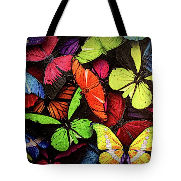 Swarm Of Butterfles  Tote Bag