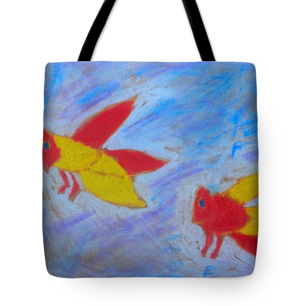 Tote Bag featuring the painting Swarming Bees by Artists With Autism Inc