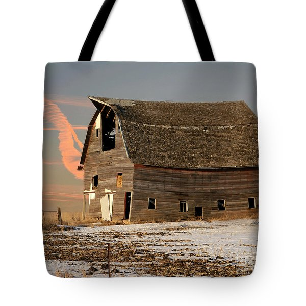 Swayback Barn Tote Bag by Kathy M Krause