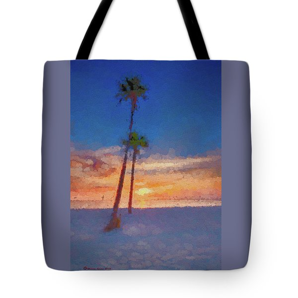 Tote Bag featuring the photograph Swaying Palms by Marvin Spates