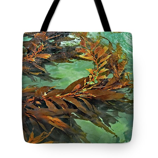 Tote Bag featuring the photograph Swaying Seaweed by Susan Wiedmann