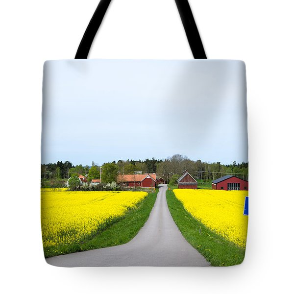 Tote Bag featuring the photograph Swedish Spring Landscape by Kennerth and Birgitta Kullman