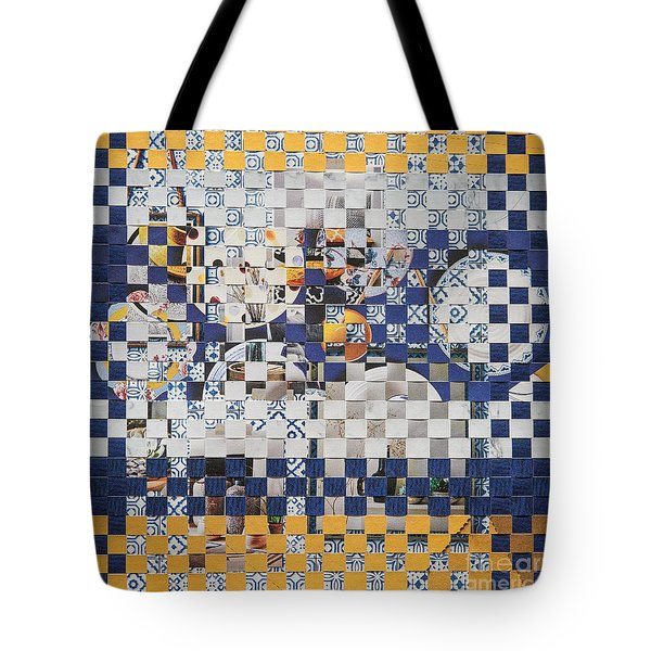 Tote Bag featuring the mixed media Swedish Table by Jan Bickerton