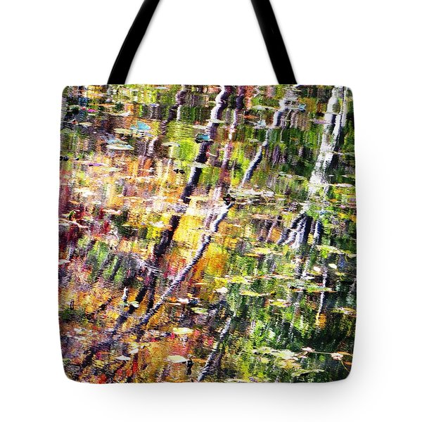 Tote Bag featuring the photograph Raking Water  by Melissa Stoudt