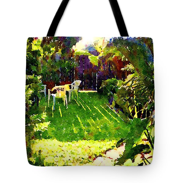 Tote Bag featuring the painting Sweet Afternoon by Angela Treat Lyon