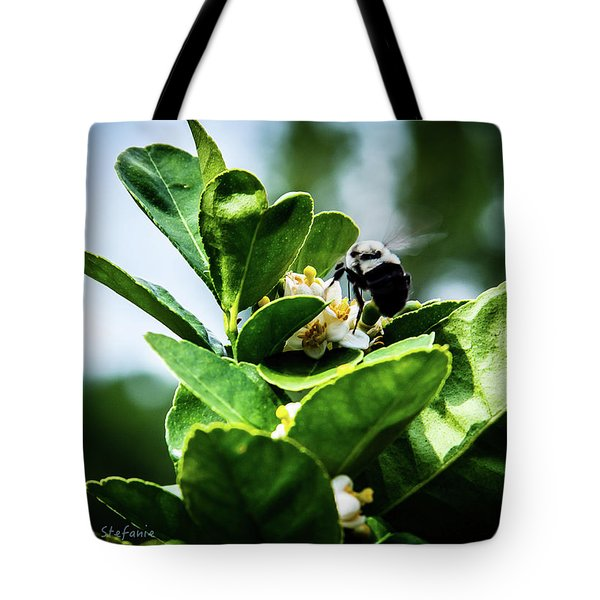 Sweet Bee Tote Bag by Stefanie Silva