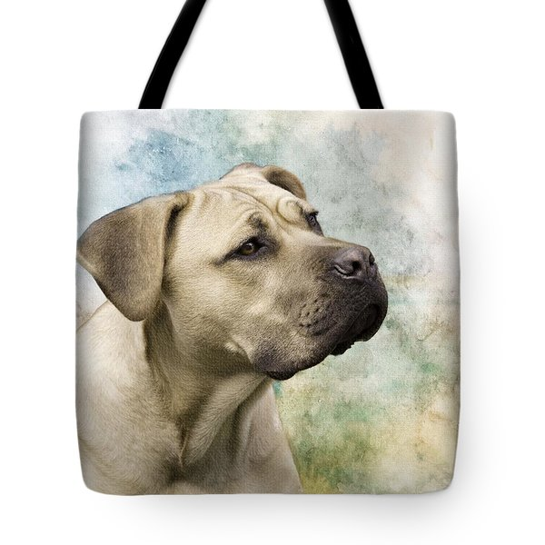 Sweet Cane Corso, Italian Mastiff Dog Portrait Tote Bag