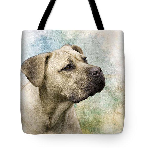 Sweet Cane Corso, Italian Mastiff Dog Portrait Tote Bag