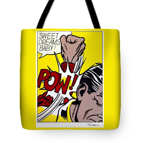 Sweet Dreams Baby Tote Bag by Roy Lichtenstein