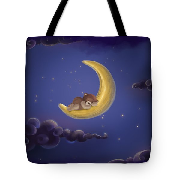 Tote Bag featuring the drawing Sweet Dreams by Julia Art