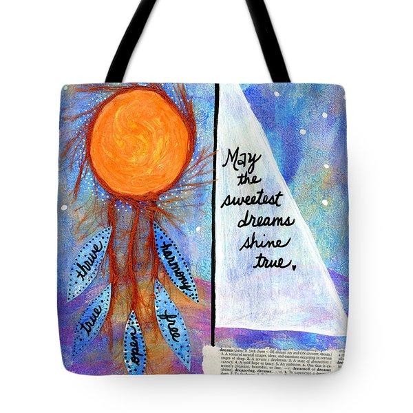 Sweet Dreams Shine Tote Bag