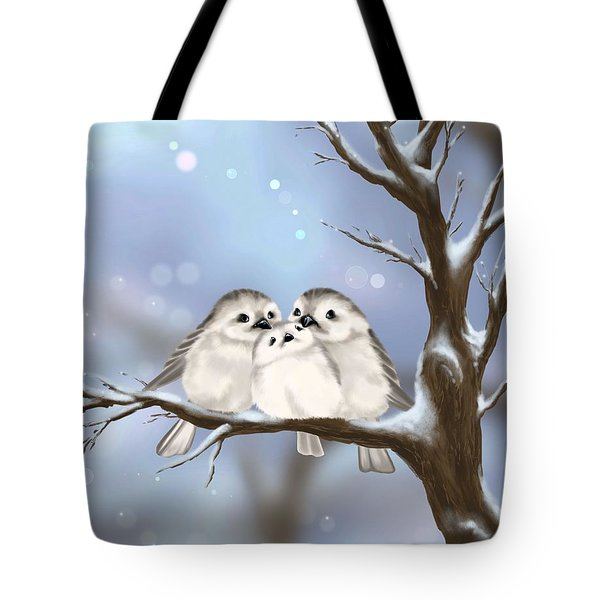 Tote Bag featuring the painting Sweet Family by Veronica Minozzi