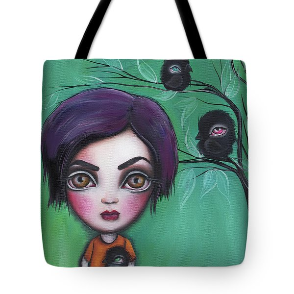 Sweet Girl Tote Bag by Abril Andrade Griffith