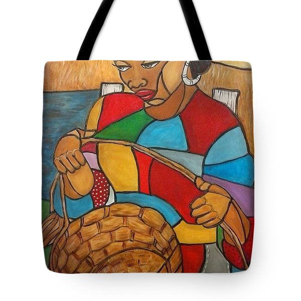 Sweet Grass By The Water Tote Bag by Jenny Pickens