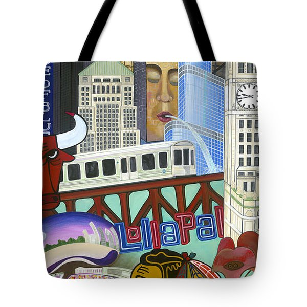 Tote Bag featuring the painting Sweet Home Chicago by Carla Bank