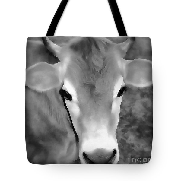 Tote Bag featuring the painting Sweet Jersey Girl - Jersey Cow by Janine Riley