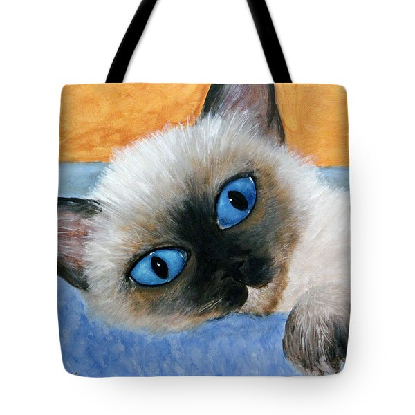 Sweet Kitty Blue Eyes Tote Bag