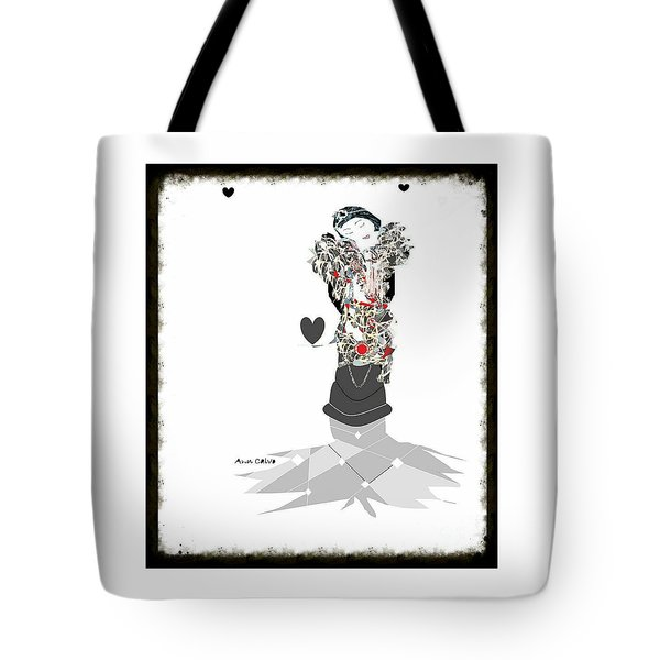 Tote Bag featuring the mixed media Sweet Lady 7 by Ann Calvo