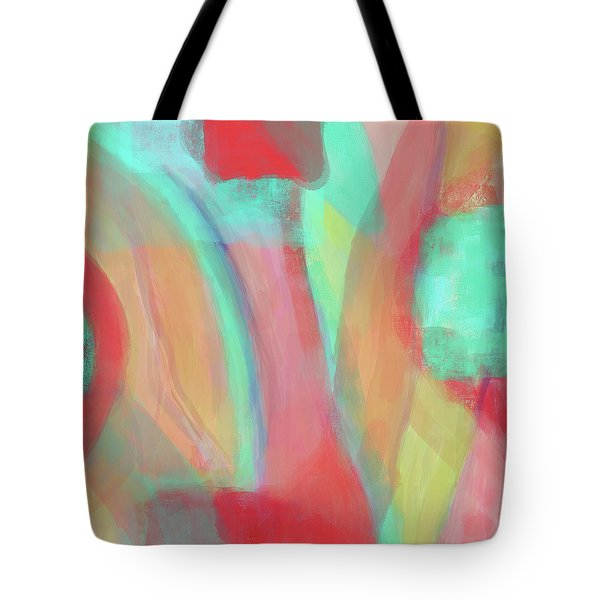 Tote Bag featuring the digital art Sweet Little Abstract by Susan Stone