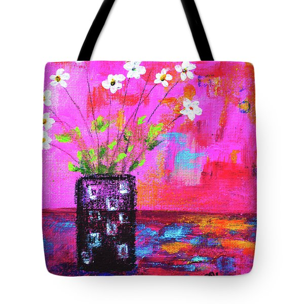 Sweet Little Flower Vase Tote Bag
